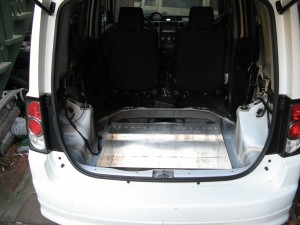 mid and lower battery boxes installed.   Back seat and upper battery box go above.
