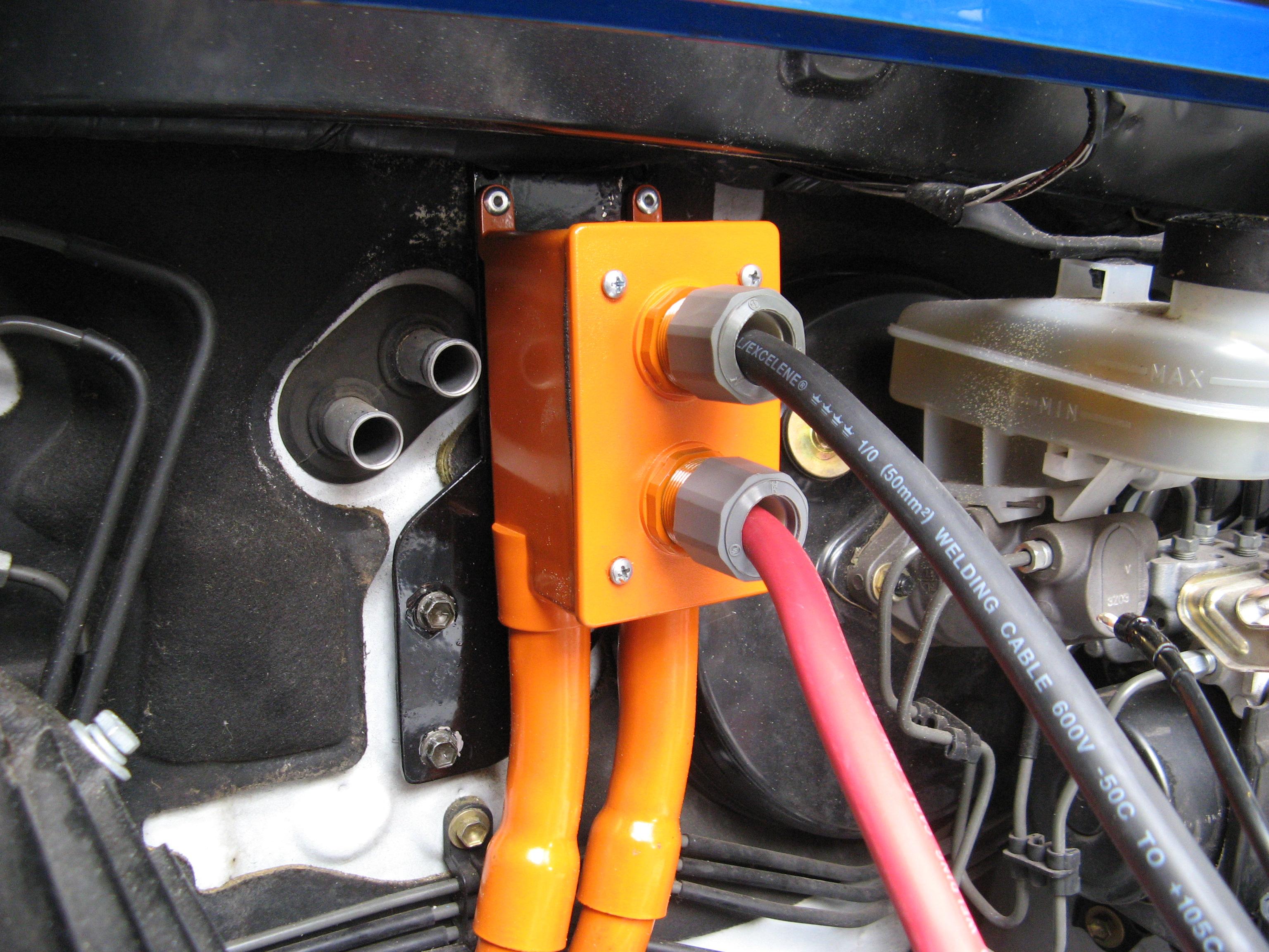 Scion Xb Ev Battery Boxes And High Voltage Conduit