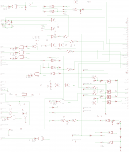 controller interface board circuit schematic (beware errors!)