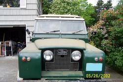 1962 land rover, with many years of dust
