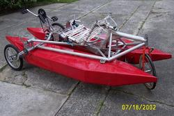 Side view of MKII amphibike