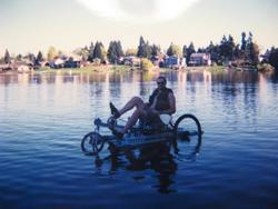 original amphibike on angle lake