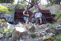 brian and brad at Doreleska stamp mill