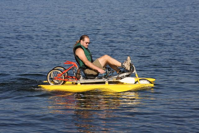 on Lake Washington with amphibike MKIII