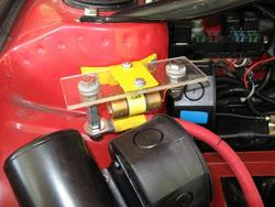 fuse holder mounted in front compartment