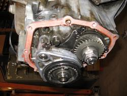 Toyota MR2 transmission fifth gear components still in place